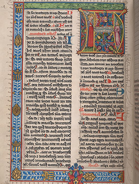 Illuminated German manuscript